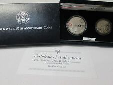 1991-1995 World War II Proof 2 Coin Commemorative Coin Set