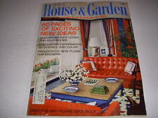 Vintage HOUSE & GARDEN Magazine, January, 1968, 60 PAGES OF DECORATING IDEAS!