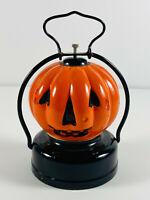Vintage Halloween Jack O'Lantern Double Side Glass Pumpkin Trademark U Hong Kong