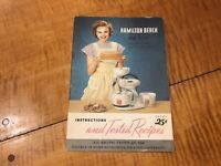 1948 HAMILTON BEACH Food Mixer Instructions Guide & Tested Recipes Cookies Cake