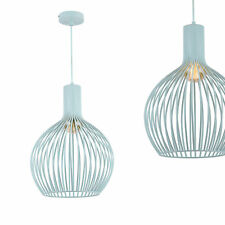 [lux.pro] Design Suspension métal Zartblau Plafonnier Lampe suspendue