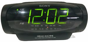 Sony Dream Machine Dual Alarm FM AM Clock Radio ICF-C490 Black & User Guide