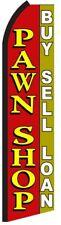 PAWN SHOP Red Yellow Swooper Flag Tall Vertical Feather Bow Flutter Banner Sign