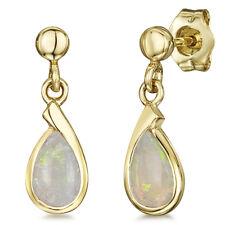 9ct Yellow Gold Earrings Opal Stud Drop Earrings