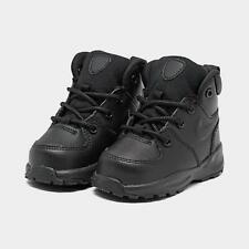 Nike Boys Boots Black Leather Lace Up Baby/Infant/Toddler UK 1.5 Winter BNIB