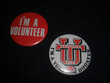 University of Tennessee Football 1973 Pin Back Buttons Lot of 2