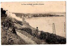 CPA 29 - SAINT MARC près BREST (Finistère) - Le Vieux St-Marc (animée, train)