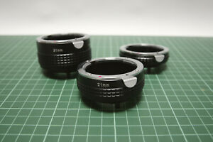 Macro Extension Tube set for Pentax P/K,M Mount,13mm, 21mm, 31mm, Used