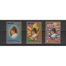 BELIZE 1981  LADY DIANA 3 VALORI  MNH MF58146