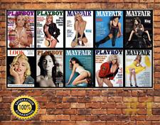 JOB LOT 10 X Métal Tin Signe Plaque Murale adulte magazine sexy collection 1