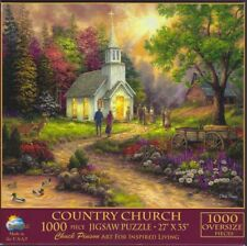 SunsOut by Chuck Pinson ~ COUNTRY CHURCH ~ 1000 Oversize Piece Puzzle - USED