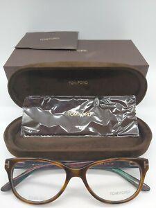 TOM FORD TF 5292 052 eyeglasses glasses frame - gloss havana / green NEW + case