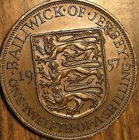 1957 BAILIWICK OF JERSEY 1/12 OF A SHILLING