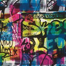 Papel Pintado Rasch - Grafiti Pintura Spash - ARTE CALLEJERA pared - Habitación