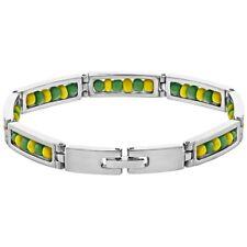 """Stainless Steel Link Wristband Inside Babalawo Unisex Santeria Orula Bracelet 9"""""""