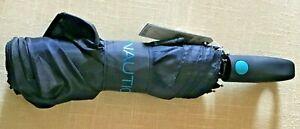 NAUTICA  UMBRELLA UNISEX  NAVY BLUE TURQUOISE  TRIM  RETAIL-$25 NWT