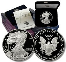 Random Year (1986 - Present) 1 oz .999 Proof Silver American Eagle Box & COA