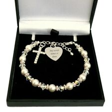 Personalised Bracelet for First Communion, ANY Engraving. Baptism, Christening