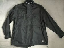 LONDSDALE WINDCHEATER IN BLACK WITH LARGE FRONT POCKET & 2 MORE ABOVE - S