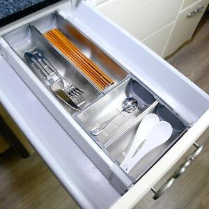 Cutlery Tray Insert Utensil Drawer Divider Organiser Tidy Storage Tool AU Stock