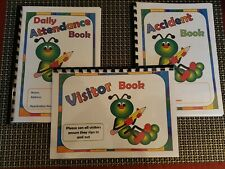 childminder child record books attendance accident visitor 3 book deal childcare