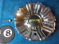 1 MKW Wheels Chrome Custom Wheel Center Cap # M85-6C