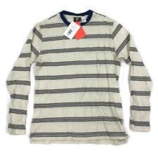 Paul Smith Mens Long Sleeve T-Shirt Striped Beige Small