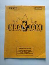 Midway Nba Jam Arcade Operational Service Manual 1993 Original Video Game Paper