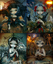 Jasmine Becket-Griffith SIGNED 4 Art Prints Unseelie Court: War Death Famine