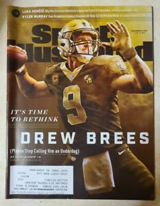 Sports Illustrated December 3, 2018 Drew Brees New Orleans Saints