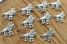 Poodle Dog Breed Connector Links DYI Jewelry making 10 Pc Set