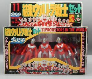 1988 Bandai Japan ULTRAMAN family vinyl figure sofubi tokusatsu hero set of 11 !