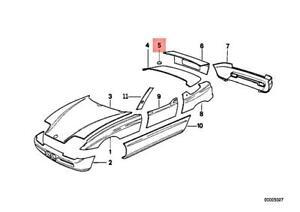 Genuine BMW Z1 Roadster Fill-In Flap 41632291034