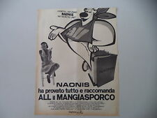 advertising Pubblicità 1970 LAVATRICE NAONIS ALL