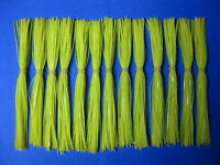 25 Silicone Skirts- Solid Chartreuse -  #25-930
