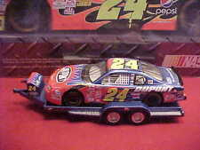 NEW 2002 JEFF GORDON #24 DUPONT 1/24 TRAILER WITH 1/24 DUPONT FLAMES CAR