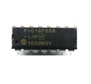 2PCS PIC16F688-I/P 16F688-I/P MCU DIP-14 NEW