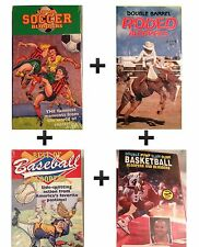 Four VHS Tape Video Sports Bloopers Soccer,Basketball,Baseball,Rodeo New Sealed