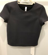 NWT Lululemon Shaped SS ~ Sz 2 ~ Black ~ Cropped Short Sleeve Top Spacer