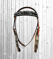 PRO WESTERN SHOW HORSE BROWN LEATHER BRIDLE PLEASURE TACK PLEASURE PARADE SET
