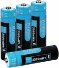 4PCS 1.5V AA Li-ion Rechargeable Battery Lithium Battery Kratax 3500mWh