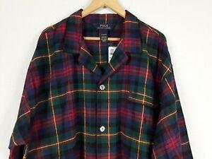 Polo Ralph Lauren SZ.XL Nightshirt Sleep Shirt Flannel Plaid Pajamas, Red,Green