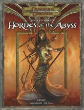 Dungeons & Dragons RPG  Hordes of the Abyss HC 3.0 OOP NEW  FREE PRIORITY