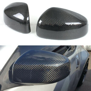FOR 2009-19 NISSAN 370Z Z34 CARBON FIBER SIDE VIEW MIRROR COVERS CAP OVERLAY MP