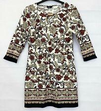 F&F Womens Brown Mix Floral Dress Size 10