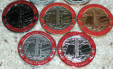 COMPLETE set of FIVE geocoins! Apollo 11, 40th Anniversary, 2009, Ultra Rare!