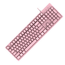 NEW Replacement Mechanical 104-Key Keyboard LED White Keypads for Computer
