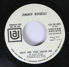 Pop Promo 45 Jimmy Roselli - Why Did You Leave Me / My Heart Cries For You On Un