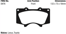 EBC Greenstuff Series Brake Pad Set Front for Tundra / 4 Runner / Tacoma / GS460
