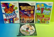 Nintendo Wii & Wii U 4 Games - Bust a Move Thrillville Six Flags Carnival Games